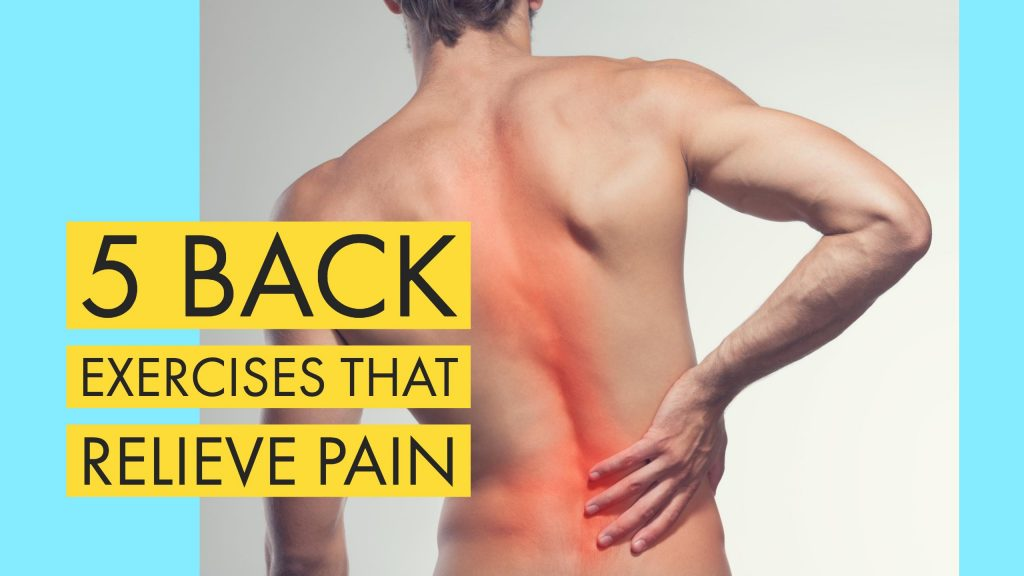 A man holding his painful lower back